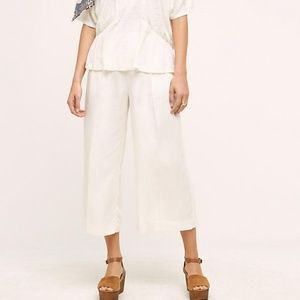 Anthropologie Marrakech Joni Wide Leg Crops Pants